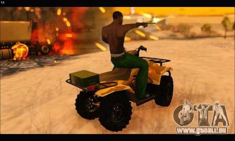 ATV Army Edition v.3 für GTA San Andreas obere Ansicht