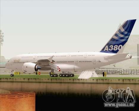 Airbus A380-800 F-WWDD Etihad Titles pour GTA San Andreas vue de dessous