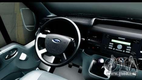 Ford Transit SWB Love Live pour GTA San Andreas vue arrière