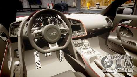 Audi R8 E-Tron 2014 für GTA 4 Innenansicht