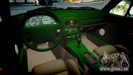 Mazda MX-5 Miata NA 1994 [EPM] pour GTA 4 est une vue de l'intérieur
