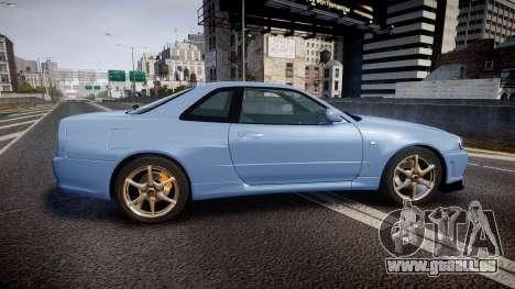 Nissan Skyline R34 GT-R V.specII 2002 pour GTA 4 est une gauche
