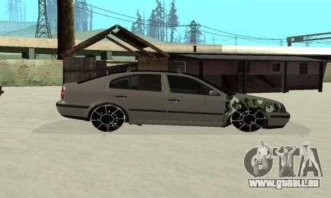 Skoda Octavia Winter Mode für GTA San Andreas Innenansicht