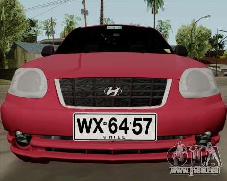 Hyundai Accent 2004 pour GTA San Andreas laissé vue