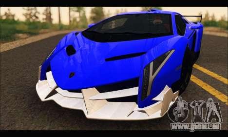 Lamborghini Veneno White-Black 2015 (ADD IVF) pour GTA San Andreas