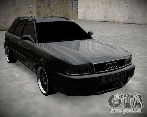 Audi 80 B4 Avant BAN.RF pour GTA San Andreas sur la vue arrière gauche