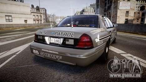 Ford Crown Victoria Sheriff K-9 Unit [ELS] für GTA 4 hinten links Ansicht
