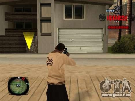C-HUD Hennesy pour GTA San Andreas deuxième écran