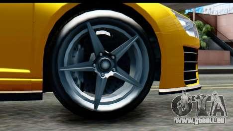 GTA 5 Obey 9F Cabrio IVF für GTA San Andreas zurück linke Ansicht