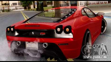 Ferrari F430 Scuderia für GTA San Andreas linke Ansicht