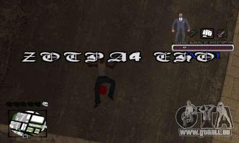 FBI C-HUD pour GTA San Andreas cinquième écran