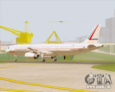 Airbus A321-200 French Government für GTA San Andreas linke Ansicht