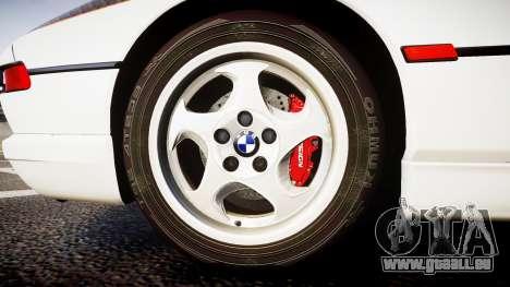 BMW E31 850CSi 1995 [EPM] Carbon pour GTA 4 Vue arrière