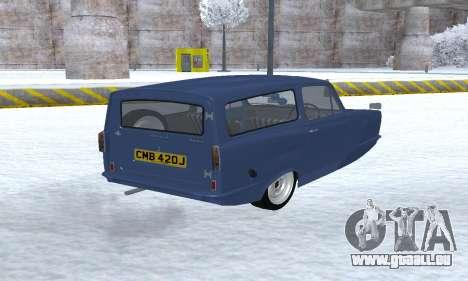 Reliant Supervan III pour GTA San Andreas vue arrière