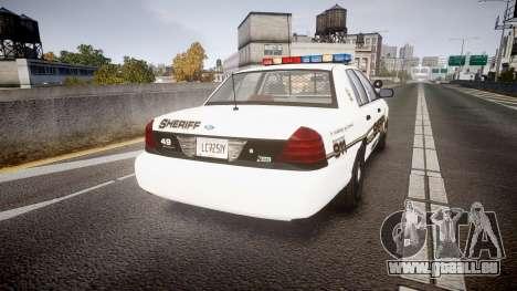 Ford Crown Victoria LCSO [ELS] Edge für GTA 4 hinten links Ansicht