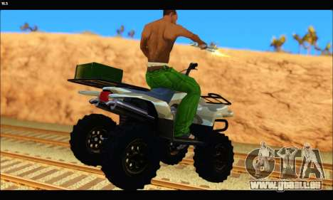 ATV Army Edition v.3 pour GTA San Andreas sur la vue arrière gauche