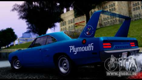 Plymouth Roadrunner Superbird RM23 1970 IVF pour GTA San Andreas vue arrière