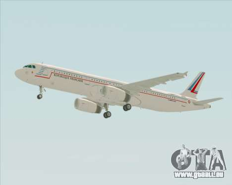Airbus A321-200 French Government für GTA San Andreas Seitenansicht