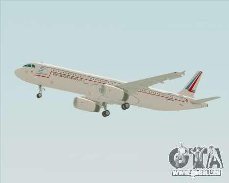Airbus A321-200 French Government pour GTA San Andreas vue de côté