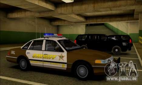 Ford Crown Victoria 1994 Sheriff für GTA San Andreas Innenansicht