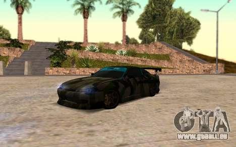 Nissan Silvia S15 Hunter pour GTA San Andreas sur la vue arrière gauche