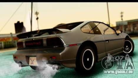 Pontiac Fiero GT G97 1985 HQLM für GTA San Andreas linke Ansicht