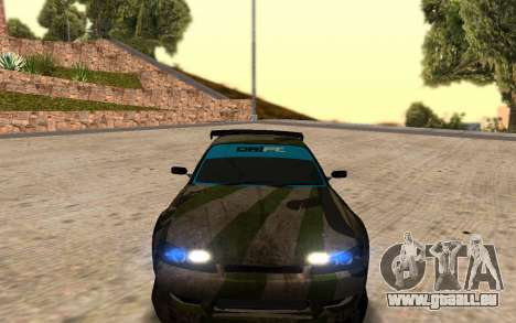 Nissan Silvia S15 Hunter pour GTA San Andreas laissé vue