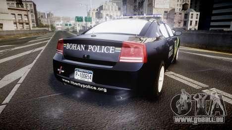 Dodge Charger 2006 Sheriff Bohan [ELS] pour GTA 4 Vue arrière de la gauche