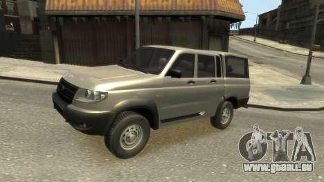 UAZ Patriot Pickup v.2.0 pour GTA 4 est une vue de l'intérieur