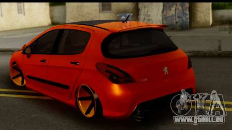 Peugeot 308 ENS Tuning für GTA San Andreas linke Ansicht