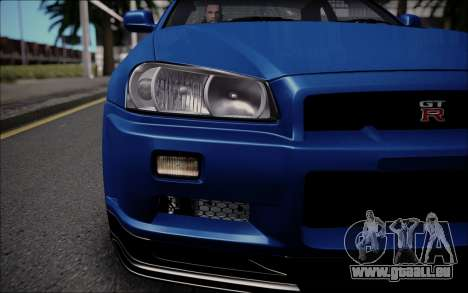 Nissan Skyline GT-R V Spec II 2002 für GTA San Andreas rechten Ansicht