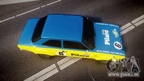 Ford Escort RS1600 PJ6 pour GTA 4 est un droit
