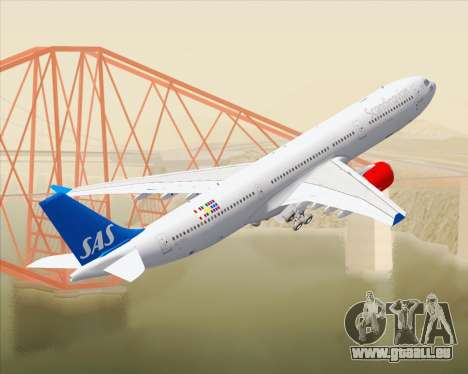 Airbus A330-300 Scandinavian Airlines pour GTA San Andreas salon