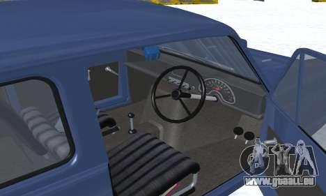 Reliant Supervan III für GTA San Andreas Innen