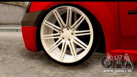 Dacia Logan MXP pour GTA San Andreas sur la vue arrière gauche