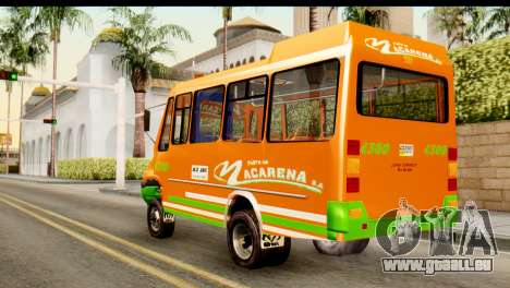 Dodge Ram Microbus pour GTA San Andreas laissé vue