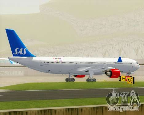 Airbus A330-300 Scandinavian Airlines für GTA San Andreas obere Ansicht