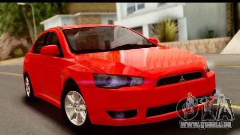 Mitsubishi Lancer X Stock pour GTA San Andreas