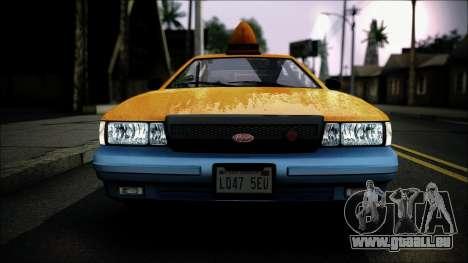 Taxi Vapid Stanier II from GTA 4 IVF pour GTA San Andreas vue arrière