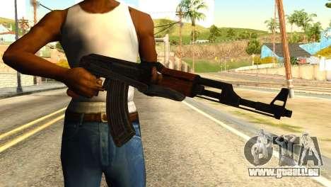 AK47 from Global Ops: Commando Libya für GTA San Andreas dritten Screenshot