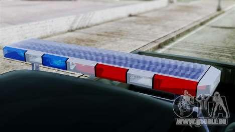 Dodge Dakota National Guard Base Police für GTA San Andreas zurück linke Ansicht