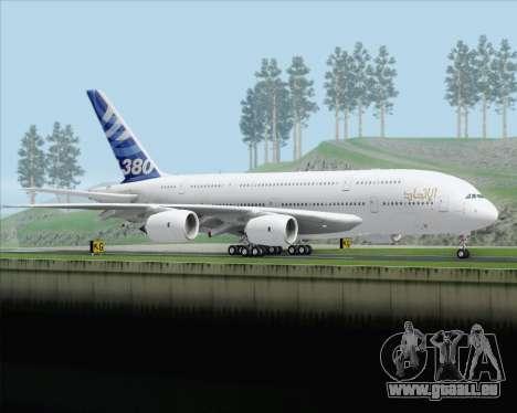 Airbus A380-800 F-WWDD Etihad Titles pour GTA San Andreas vue de droite