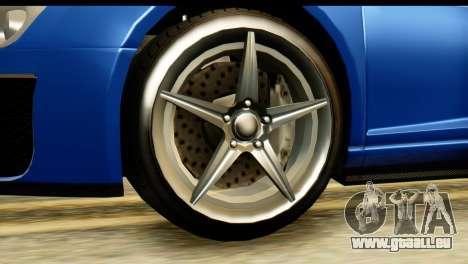 GTA 5 Obey 9F Cabrio pour GTA San Andreas vue de droite