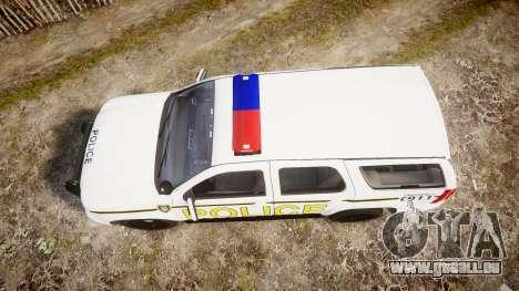 Chevrolet Tahoe 2010 Police Alderney [ELS] für GTA 4 rechte Ansicht