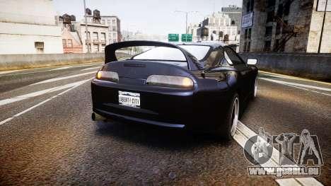 Toyota Supra Tuned pour GTA 4 Vue arrière de la gauche