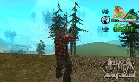 C-HUD Groove St. Family pour GTA San Andreas deuxième écran