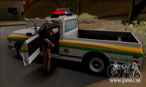 Chevrolet C10 1972 Policia pour GTA San Andreas vue arrière