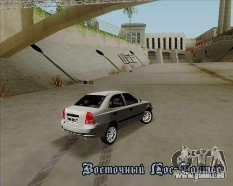 Hyundai Accent 2004 pour GTA San Andreas vue arrière