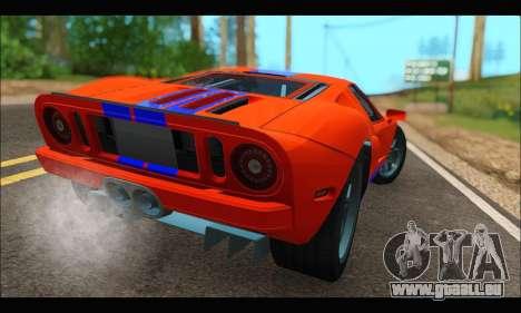 Ford GT 2006 pour GTA San Andreas laissé vue