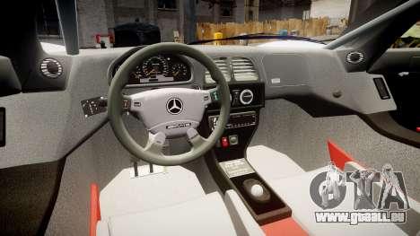 Mercedes-Benz CLK LM 1998 PJ36 pour GTA 4 Vue arrière